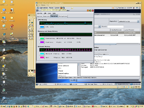 screen shot of Open Solaris