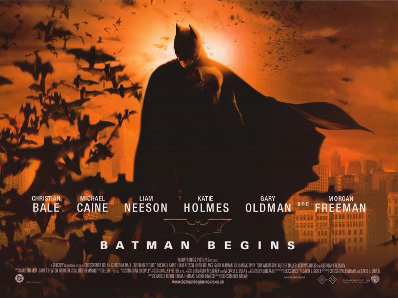 batman begins mvie poster