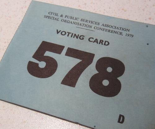 DEHQ Card Vote